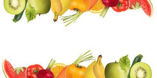 Colourful banner of fruits Royalty Free Stock Photography