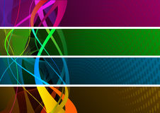 Colourful banners Royalty Free Stock Photo
