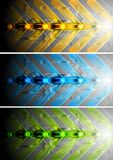 Colourful banners with abstract arrows. Bright abstract banners. Vector background eps 10 Royalty Free Stock Photos