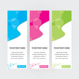Colourful Banners. 3 horizontal banners for website design Royalty Free Stock Photo