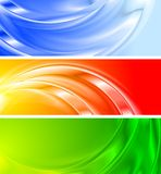 Colourful banners (NO gradient mesh). Set of vibrant abstract banners (NO gradient mesh, eps 10 Royalty Free Stock Photo