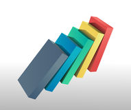 Colourful bars falling over vector Stock Photos