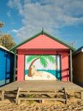 Colourful bathing boxes in Mornington on the Mornington Peninsula Stock Images