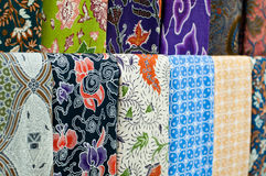 Colourful Batik Stock Photography