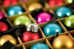 Colourful Baubles stock photography