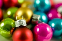 Colourful Baubles Stock Image