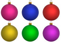 Colourful Baubles Royalty Free Stock Photos