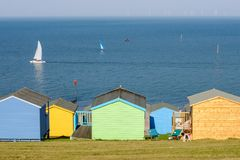 Beach huts in Whitstable, kent, UK Royalty Free Stock Photos