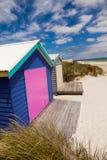 Colourful beach house Stock Photos