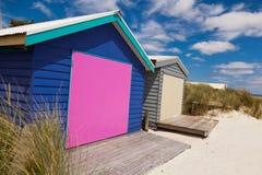 Colourful beach house Stock Image