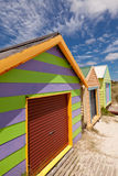 Colourful beach house Royalty Free Stock Photography