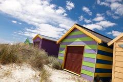 Colourful beach house Stock Photo