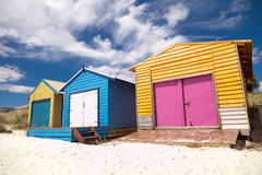 Colourful beach house Stock Photography