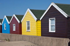 Colourful Beach Huts. A row of beach huts along Southwold's promenade Stock Image