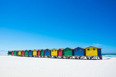 Free Colourful Beach Huts At Muizenberg, Cape Town Royalty Free Stock Photos - 89233038