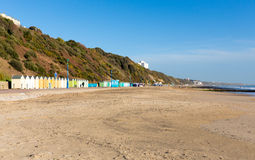 Colourful beach huts Bournemouth Dorset England UK near to Poole Stock Image