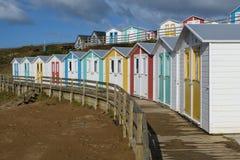 Colourful Beach huts Royalty Free Stock Photos