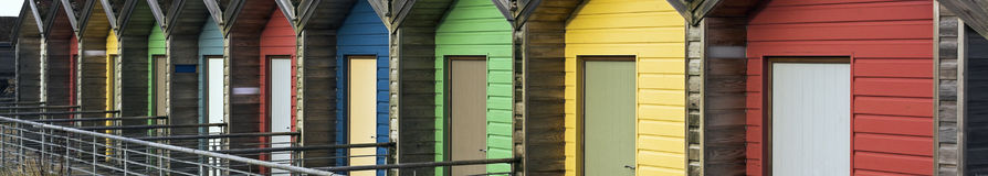 Colourful beach huts Royalty Free Stock Photo