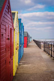 Colourful beach huts. Royalty Free Stock Images