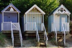 Colourful Beach Huts Stock Photos