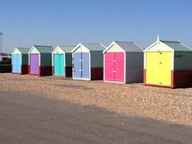 Colourful beach huts Royalty Free Stock Images