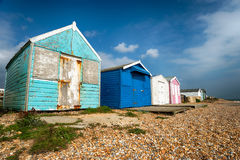 Colourful Beach Huts Royalty Free Stock Photography
