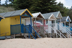 Colourful beach huts at Wells Next The Sea Royalty Free Stock Photography