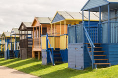 Colourful Beach Huts in Whitstable Royalty Free Stock Images