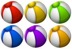 Colourful beachballs vector illustration