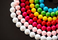 Colourful bead. Isolated on black Royalty Free Stock Photography