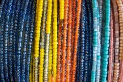 Colourful bead bracelets Stock Image