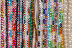 Colourful bead necklace Royalty Free Stock Photo