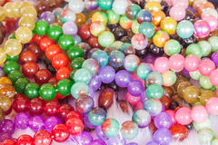 Colourful bead necklace Royalty Free Stock Image
