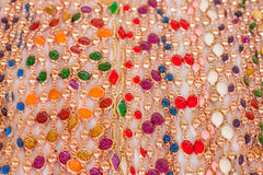 Colourful bead necklace Royalty Free Stock Photography