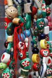 Colourful beads. With native decorations Stock Images