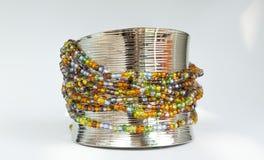 Colourful beads bracelet Stock Photos
