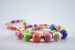 Colourful beads chain Royalty Free Stock Image