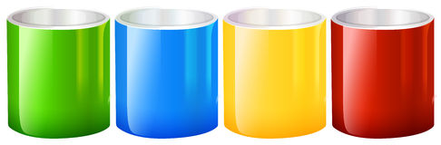 Colourful beakers Stock Images