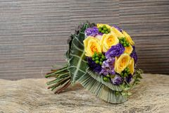 Colourful Fresh flowers bouquet Royalty Free Stock Image