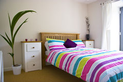 Colourful Bedroom Royalty Free Stock Photography