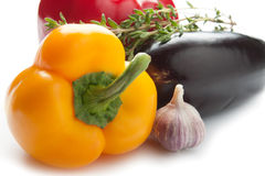 Colourful bell peppers Royalty Free Stock Photos