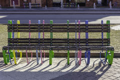 Colourful bench Stock Image