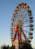 Colourful big ferris wheel in the blue sky Stock Images