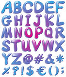 Colourful big letters of the alphabet vector illustration