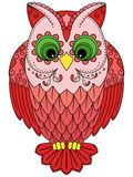 Colourful big red owl Stock Photos