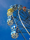 Colourful big wheel. Colourful big whell in a sunny day Stock Images