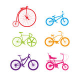Colourful bikes Royalty Free Stock Image