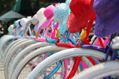 Colourful Bikes Jakarta Royalty Free Stock Photography