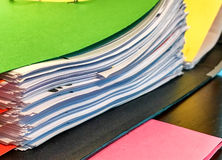 Colourful binder on a table Royalty Free Stock Image
