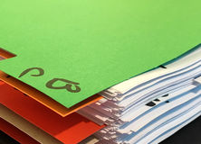 Colourful binder on a table Royalty Free Stock Photography